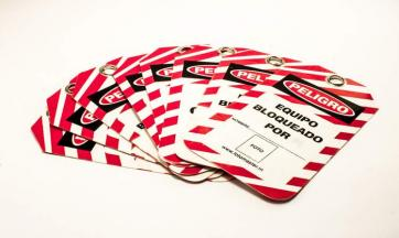 Safety Lockout Tags with Liner